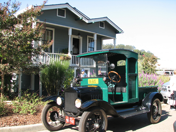 A Model T Ford truck pictured in Martinez, CA.