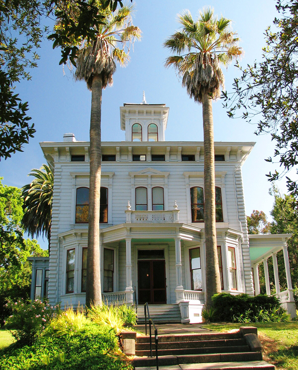 John Muir's Victorian home in Martinez, California was built in the Italinate style