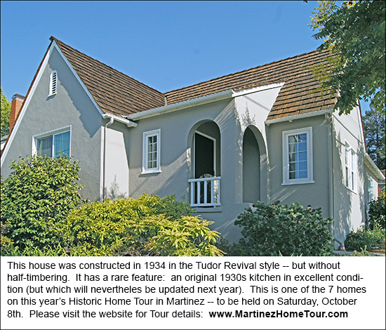 A 1935 Tudor Revival Home on Pine Street in Martinez, California.