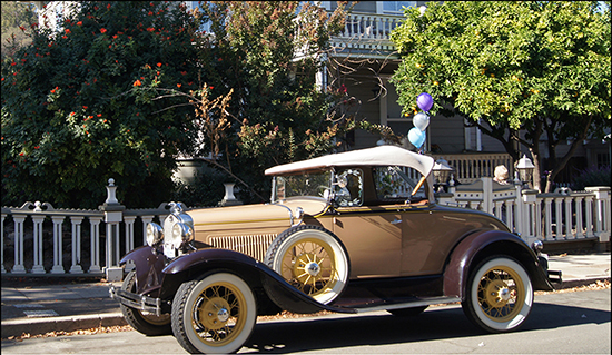 Antique automobiles are part of the Historic Home Tours in Martinez.