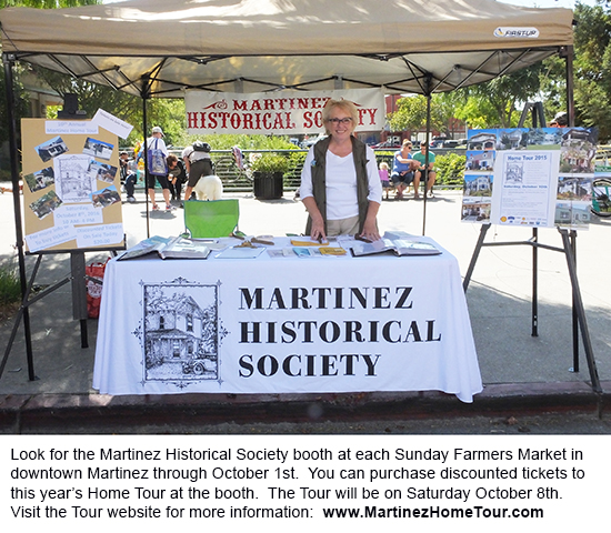 The Martinez Farmers Market takes place each Sunday from 10am to 2pm on Main Street.