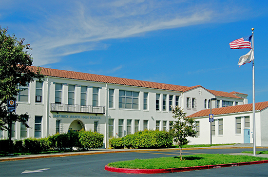 The Martinez Junior High School is an award-winning Spanish Revival structure built in 1931.