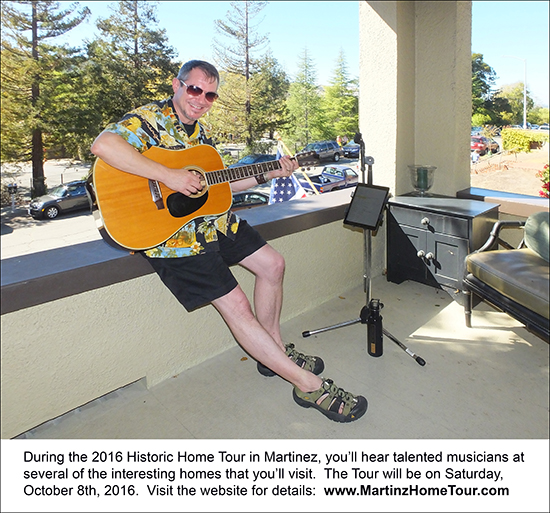 Talented musicians are a part of the Historic Home Tour in Martinez each year.