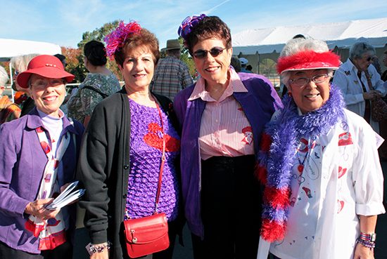 Red Hat Ladies on the Historic Home Tour in Martinez, California in 2010.