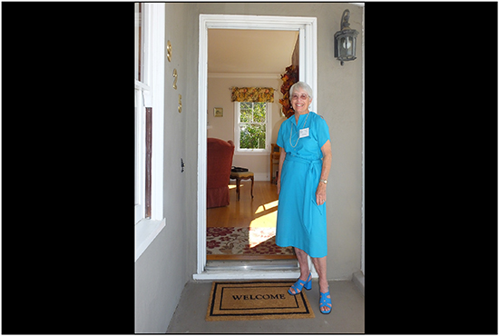 During the Historic Home Tour in Martinez, visitors are greeted at the door by helpful docents.